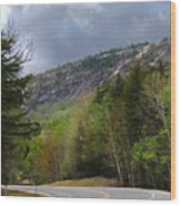 Comin Around The Bend In Campton New Hampshire Wood Print
