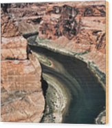 Coming Around Horseshoe Bend Page Arizona Colorado River  Wood Print