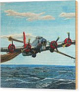 Coming Home - Boeing B-17 Flying Fortress V2 Wood Print