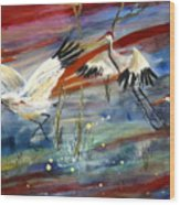 Coming In To Roost Wood Print