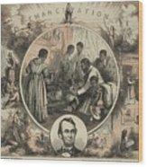 Commemoration Of The Emancipation Wood Print