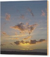 Commencement Bay Sunset Wood Print