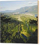 Commerce On The Columbia Wood Print