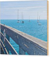 Commercial Pier On Monterey Bay-california  Wood Print