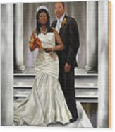 Commissioned Wedding Portrait  Wood Print