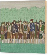 Committeemen On The Green Wood Print