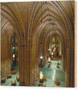 Commons Room Cathedral Of Learning - University Of Pittsburgh Wood Print by Amy Cicconi