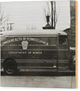 Commonwealth Of Pennsylvania  Coal Mine Rescue Truck 1947 Wood Print