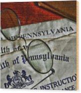 Commonwealth Of Pennsylvania Wood Print