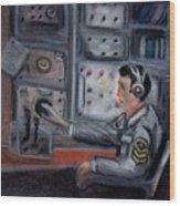 Communications Operator Wood Print