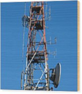 Communications Tower Wood Print