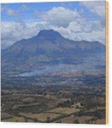 Communities Around Mount Imbabura Wood Print