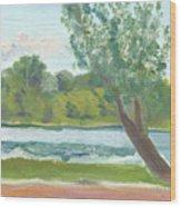 Como Lake By The Pavilion Wood Print