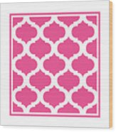 Compact Marrakesh With Border In French Pink Wood Print