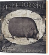 Compagne II Pig Farm Wood Print