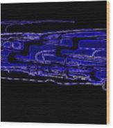 Compartmental Blues Wood Print