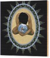 Compassion Mandala - Rlcmm Wood Print