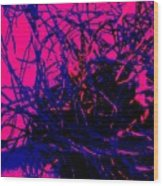 Complex Abstract Wood Print