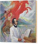Composer Felix Mendelssohn Wood Print