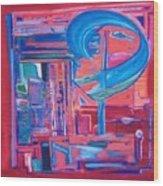 Composicion Azul Wood Print