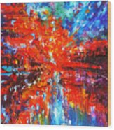 Composition # 2. Series Abstract Sunsets Wood Print