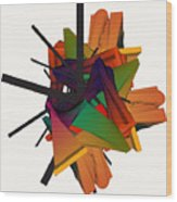 Composition 002 Wood Print