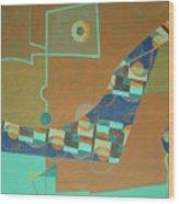 Composition IIi-07 Wood Print