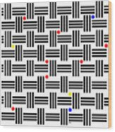 Composition 2 Wood Print