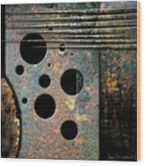 Composition With Holes And Spikes Wood Print