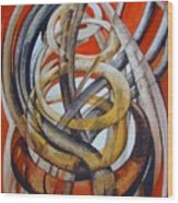 Composition With Red Wood Print