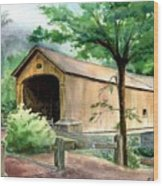 Comstock Bridge Wood Print