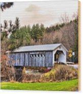 Comstock Bridge Montgomery Wood Print