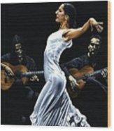 Concentracion Del Funcionamiento Del Flamenco Wood Print