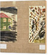 Concentration Camp Art Wood Print