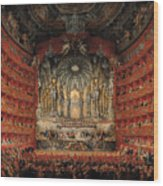 Concert Given By Cardinal De La Rochefoucauld At The Argentina Theatre In Rome Wood Print