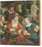 Concert In A Park Wood Print