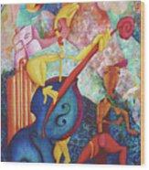 Concerto For Dingo And Tiki God Wood Print