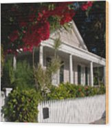 Conch House In Key West Wood Print