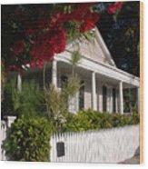 Conch House In Key West Wood Print by Susanne Van Hulst