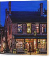 Concord Market And Cafe Wood Print