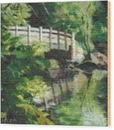 Concord River Bridge Wood Print