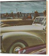 Concours Vintage Car Show Wood Print