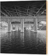 Concrete Bridge Wood Print