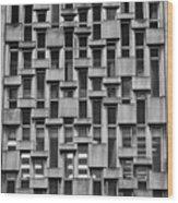Concrete Geometry  Wood Print