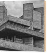 Concrete - National Theatre - London Wood Print