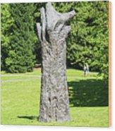 Concrete Tree On Campus Wood Print