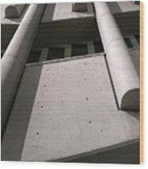 Concrete Upwards Wood Print
