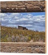 Concrete Window Wood Print