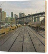 Condominium Buildings Along Granville Island Vancouver Bc Wood Print