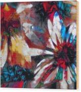 Cone Flower Fantasia I Wood Print